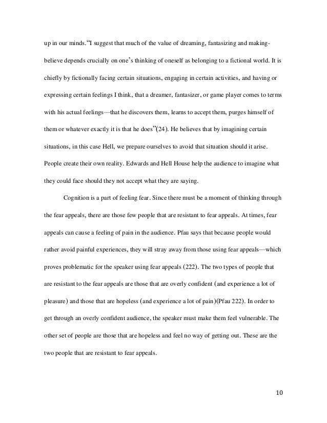 Senior Capstone Project: Sinners at the Hands of an Angry God & Hell …