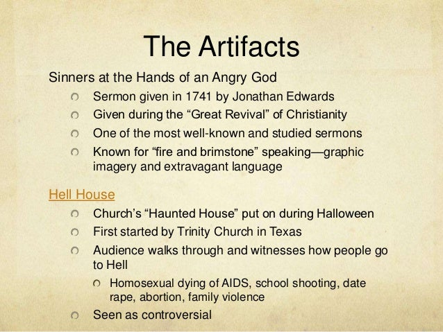 Senior Capstone Project: Sinners at the Hands of an Angry God and Hel…