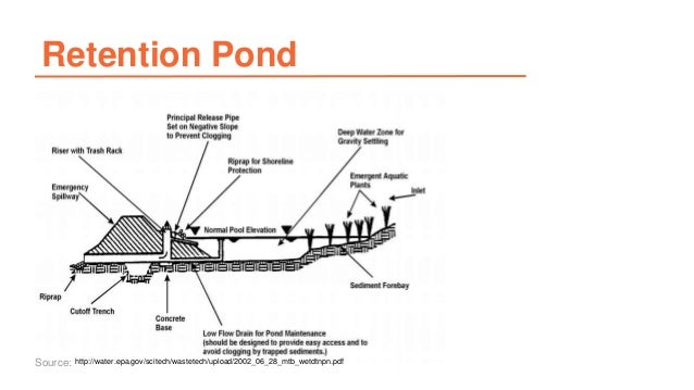 Detention pond design 46 retention pond sc 1 st for Design of oxidation pond ppt