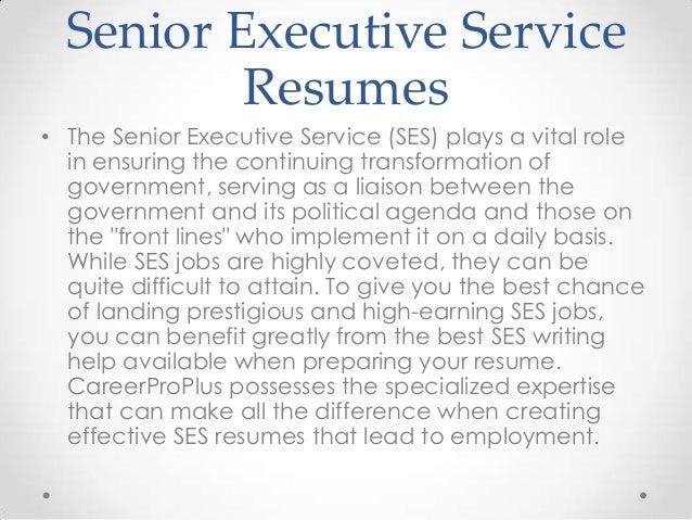 Senior Executive Service Resumes