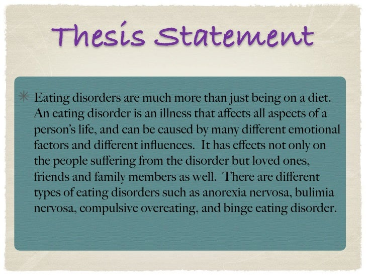 eating disorder thesis statement
