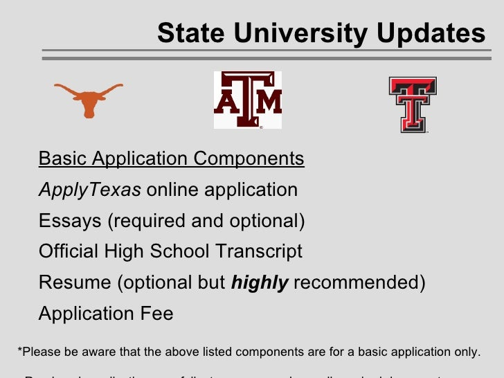 Texas womans university essay requirements