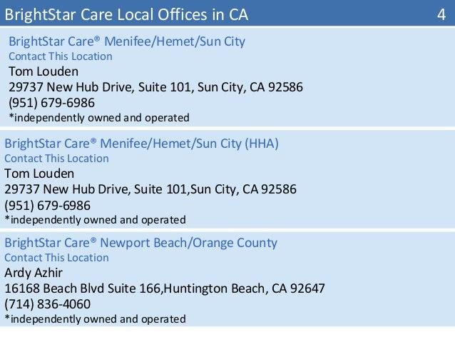 Brightstar Care Huntington Beach Ca