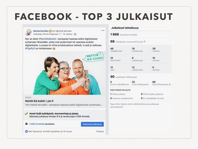 FACEBOOK - TOP 3 JULKAISUT