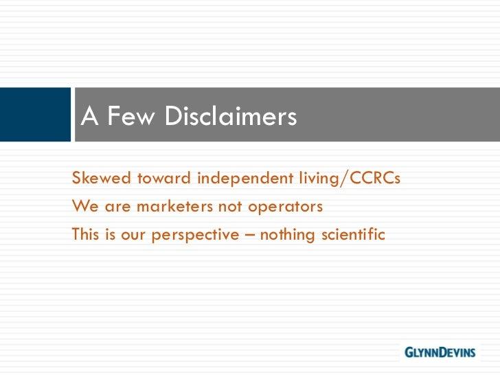 Senior Living Trends 2011 Slide 3