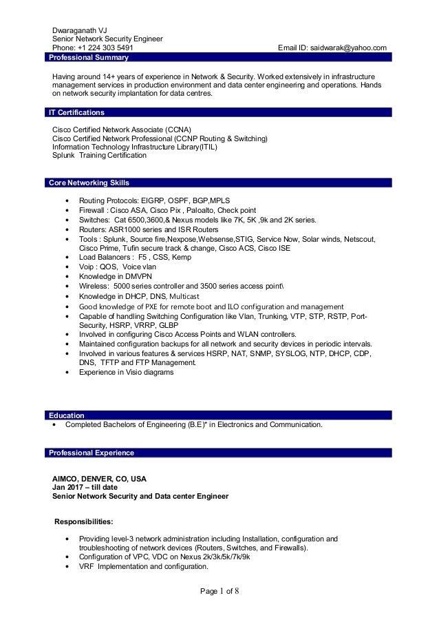 Senior Network Security Engineer – Casino Zodiac