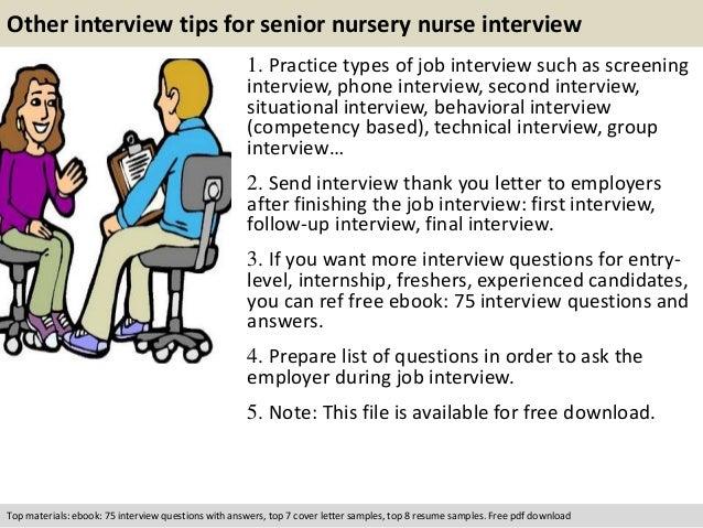 Senior Nursery Nurse Interview Questions