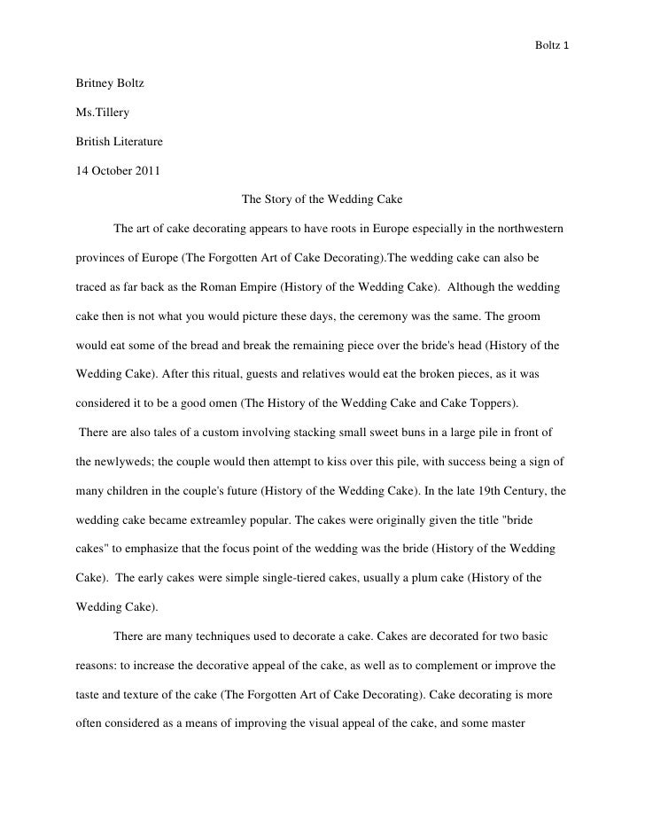 Boltz 1Britney BoltzMs.TilleryBritish Literature14 October 2011                                 The Story of the Wedding C...