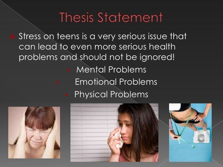 Thesis statement on stress