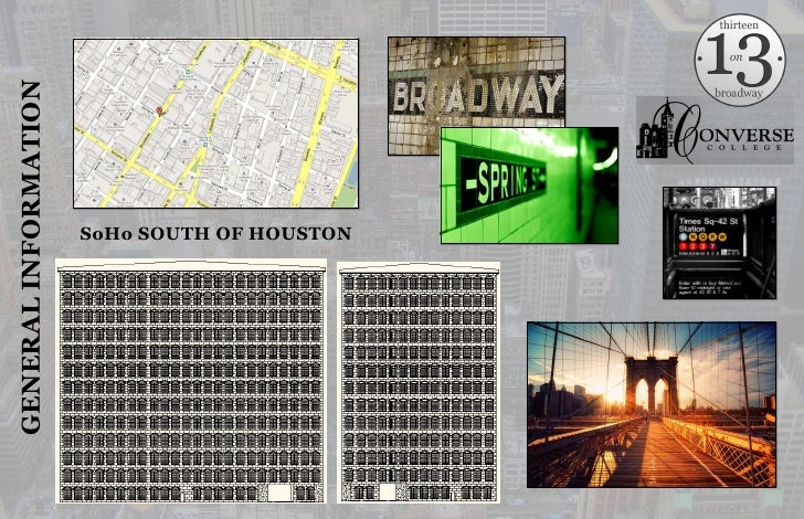 SoHo SOUTH OF HOUSTON<br />GENERAL INFORMATION<br />