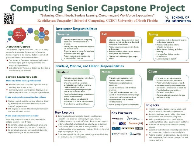 About the Course Two-semester sequence capstone (CIS 4327 & 4328) course for Information Systems and Information Science m...