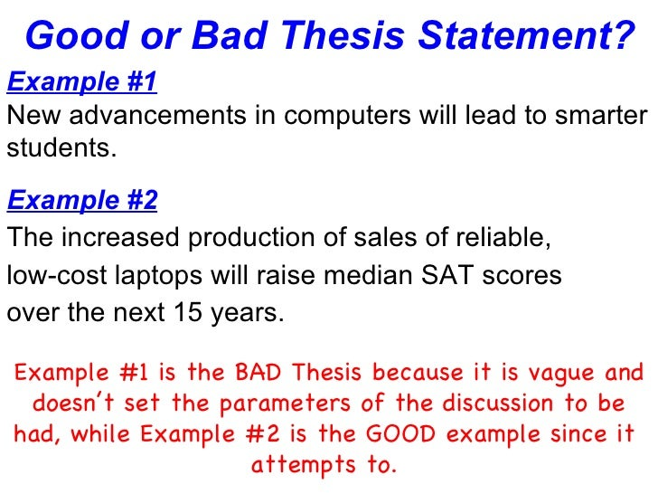 a great thesis statement Focus on a specific aspect of your topic and phrase the thesis statement in one   the speech will inform the audience about the early works of one great artist.