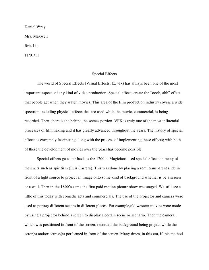 senior project essay senior project essay daniel wraymrs maxwellbrit