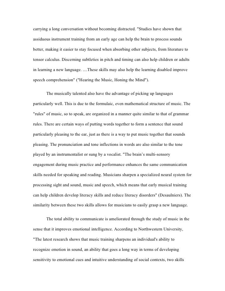 power and importance of music essay