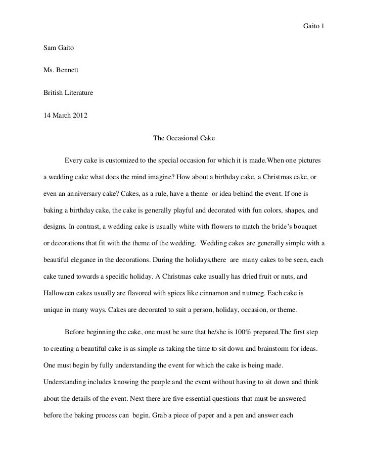 Graduation project essay