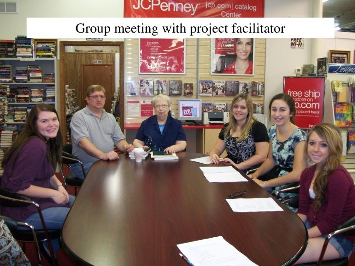 Group meeting with project facilitator