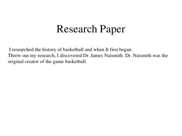 Research paper on basketball history Livestrong