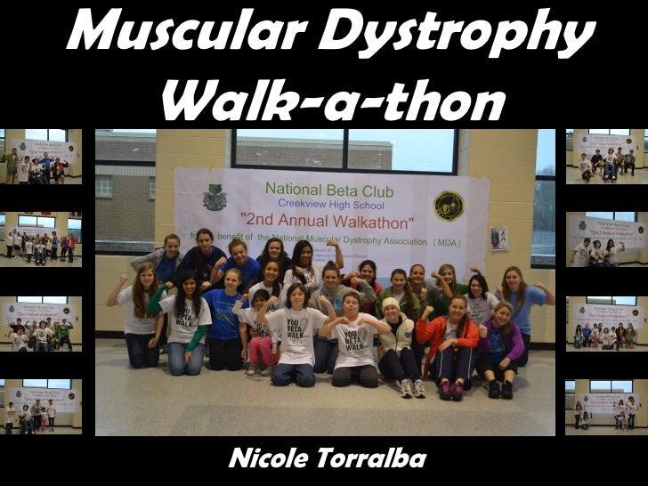 Muscular Dystrophy  Walk-a-thon     Nicole Torralba