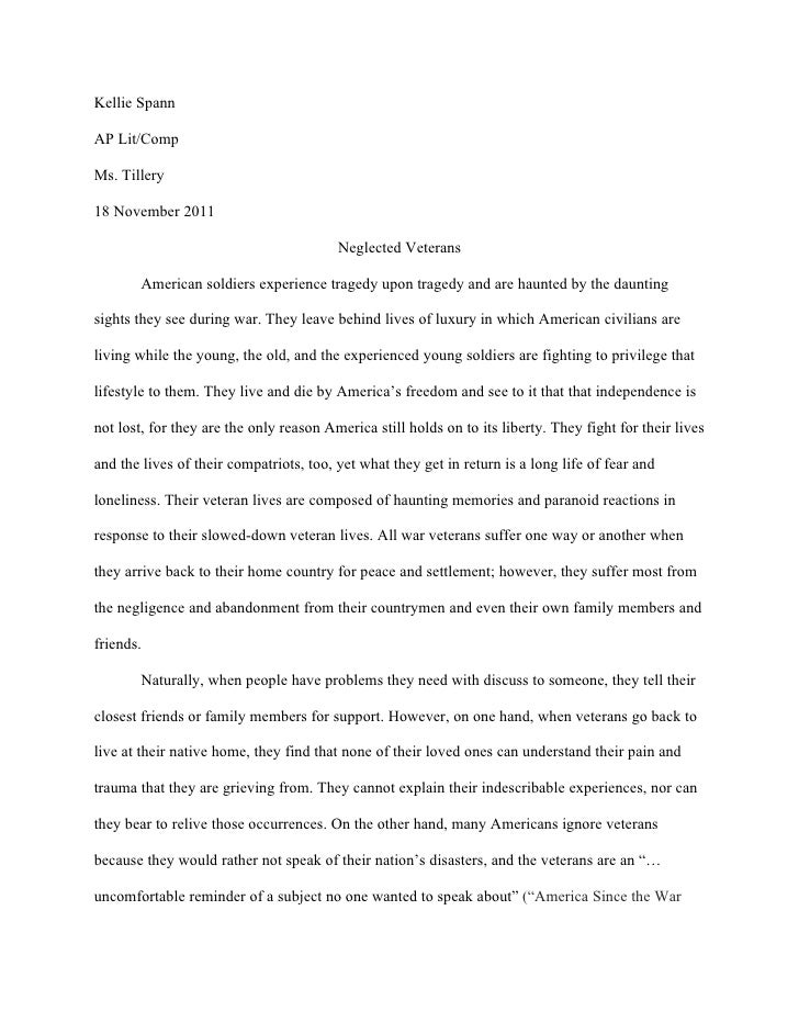 persuasive essay on veterans