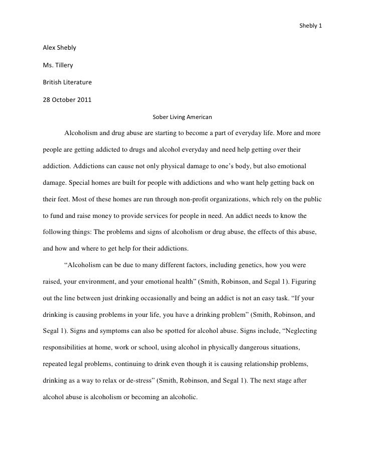 Alcohol and drug abuse essay