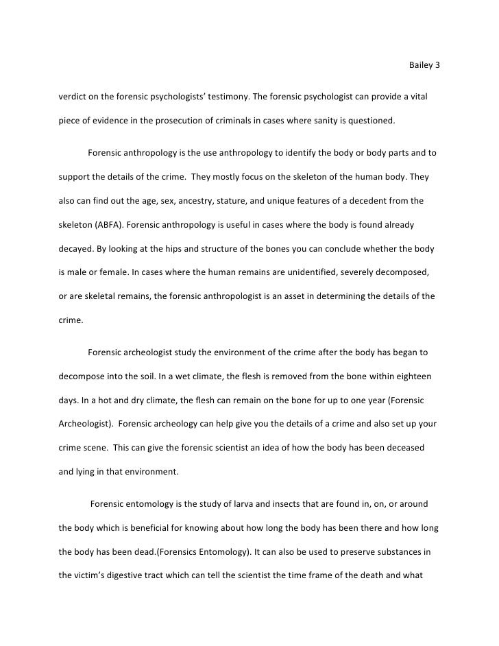 The steps of forensic anthropology essay