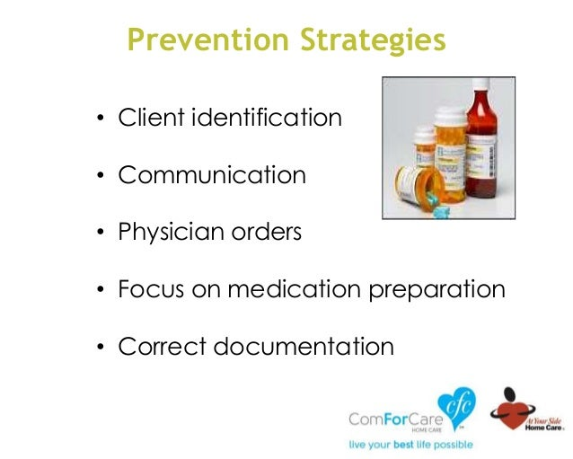 Prevention Strategies • Client identification • Communication • Physician orders • Focus on medication preparation • Corre...