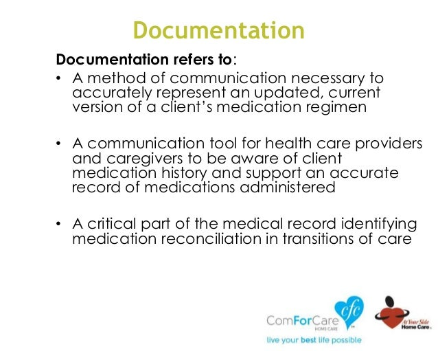 Documentation Documentation refers to: • A method of communication necessary to accurately represent an updated, current v...