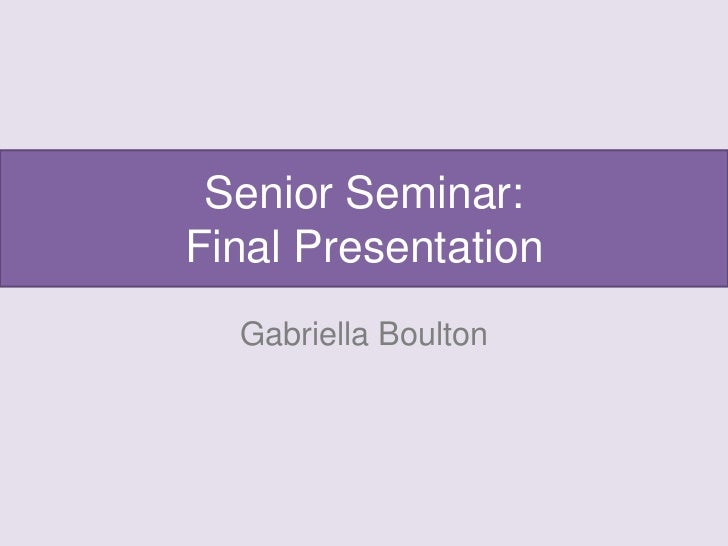 Presentations 2016