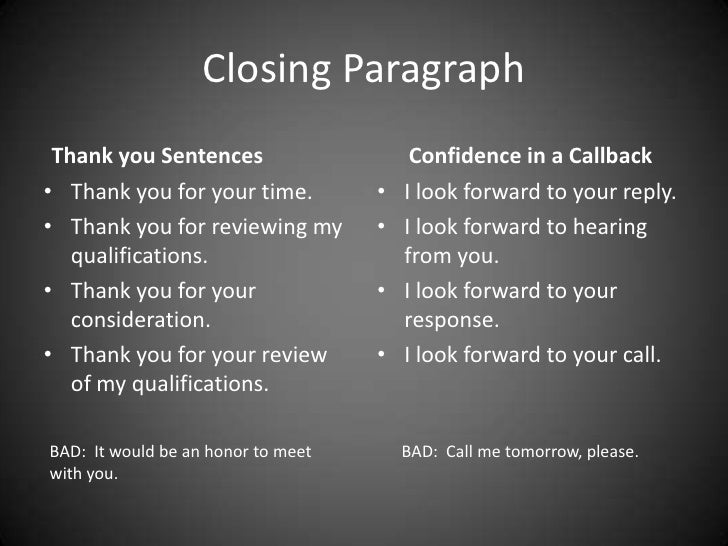 closing sentences for cover letters - seniors resumes cover letters thank you notes