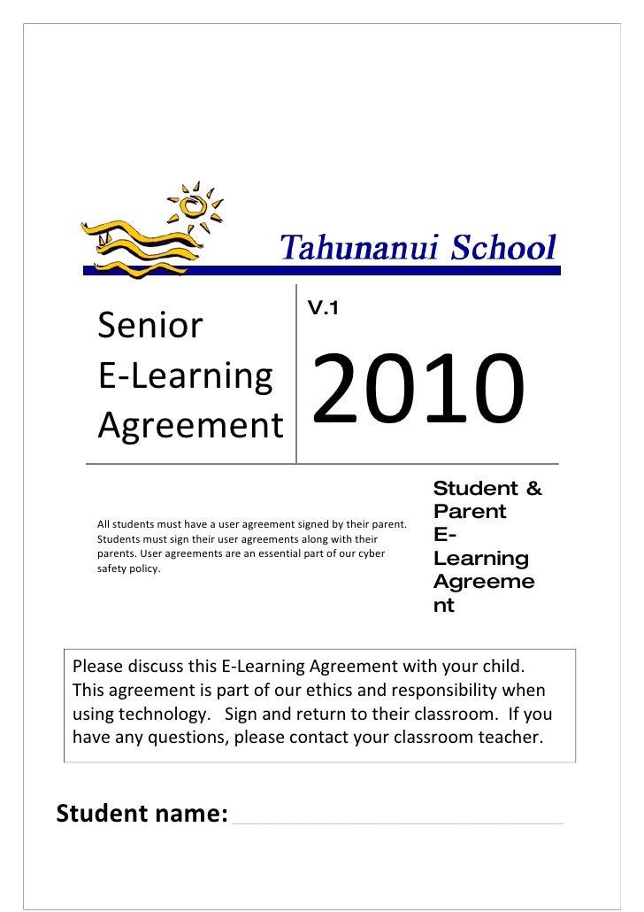 V.1     Senior     E-Learning     Agreement                                 2010                                          ...