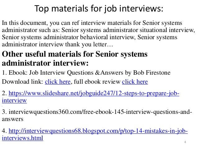 systems administrator interview 4 - Network Administrator Interview Questions And Answers