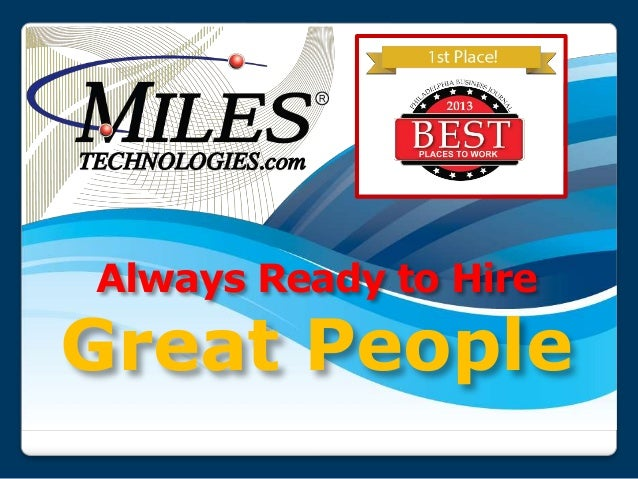 Always Ready to Hire Great People