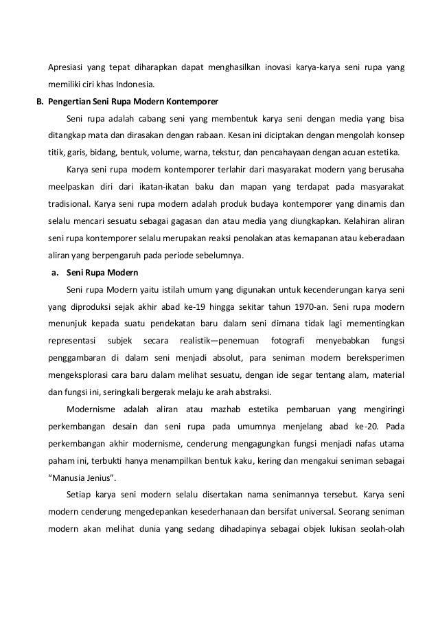 Sebutkan Bentuk Karya Seni Rupa Kontemporer Indonesia ...