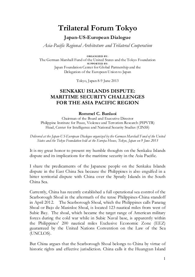 1Trilateral Forum TokyoJapan-US-European DialogueAsia-Pacific Regional Architecture and Trilateral CooperationORGANIZED BY...