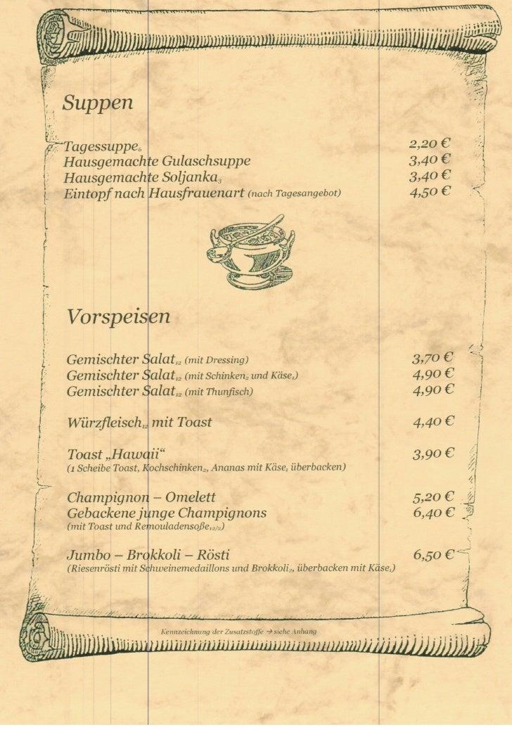 Sennhuette Speisekarte