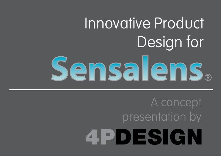 Innovative Product         Design for             A concept      presentation by 4PDESIGN