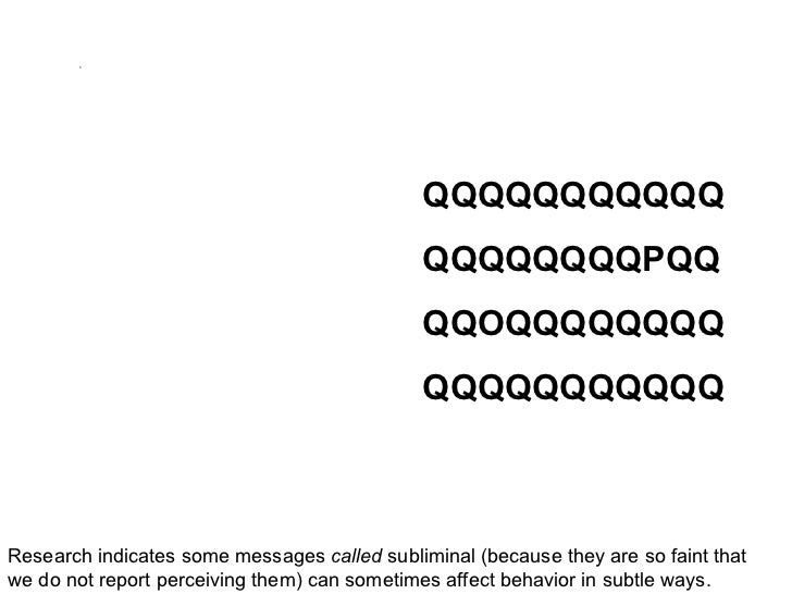 Essay on subliminal messages