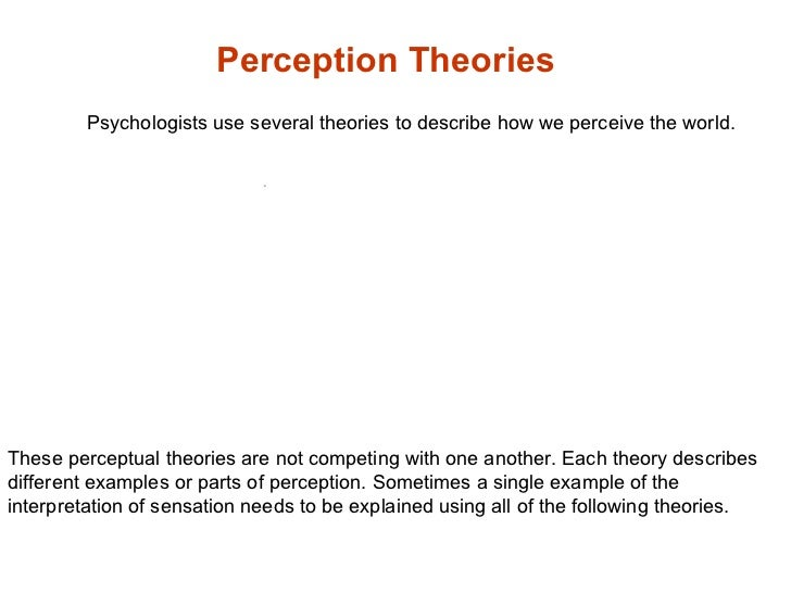 sensation and perception paper term papers Papers on sensation and perception sensation, perception, and attention paper what is it that we think about when we hear the term sensation, perception.