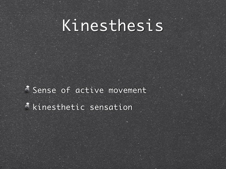 kinesthesis sense of active movement Words are expressive, emotive, nuanced, subtle, erudite and discerning unfortunately words are sometimes also elusive, deceptive, fleeting in memory.