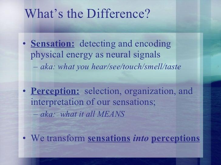 sensation and perception Citation: howes pd, wongsriruksa s, laughlin z, witchel hj, miodownik m (2014 ) the perception of materials through oral sensation.
