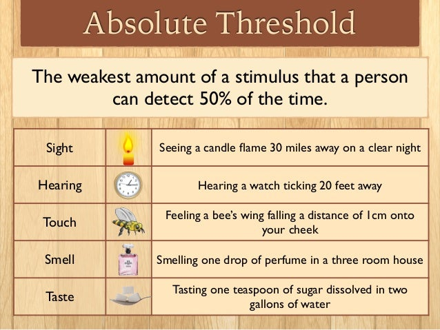 What Is an Absolute Threshold in Psychology?