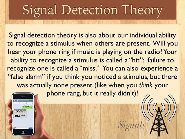 signal theory For performing bayesian analysis using signal detection theory  software for bayesian inference with signal  of how easily signal and noise trials can.
