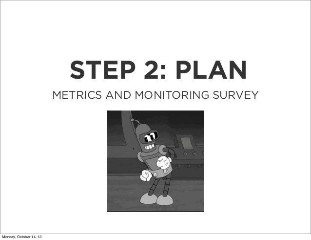 STEP 2: PLAN METRICS AND MONITORING SURVEY  Monday, October 14, 13