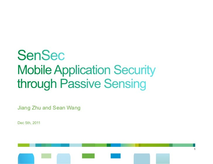 Jiang Zhu and Sean WangDec 5th, 2011                          1