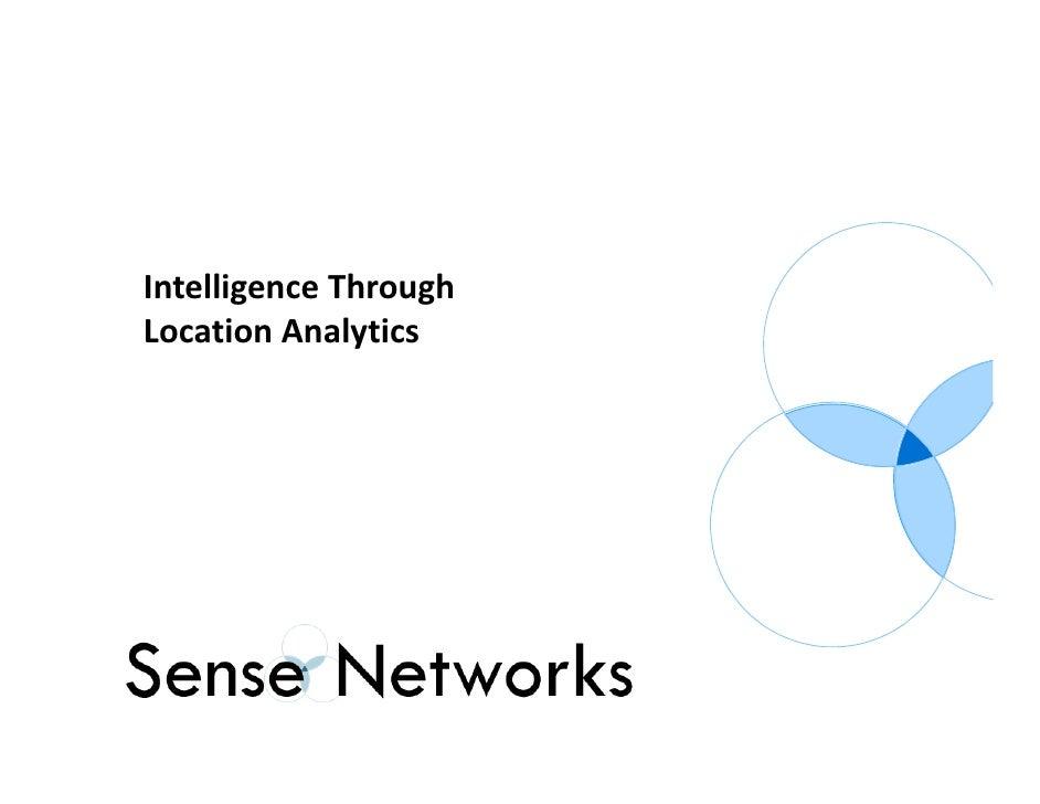 Sense networks