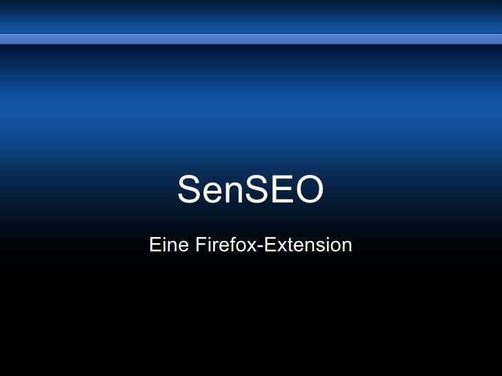 SenSEO Eine Firefox-Extension