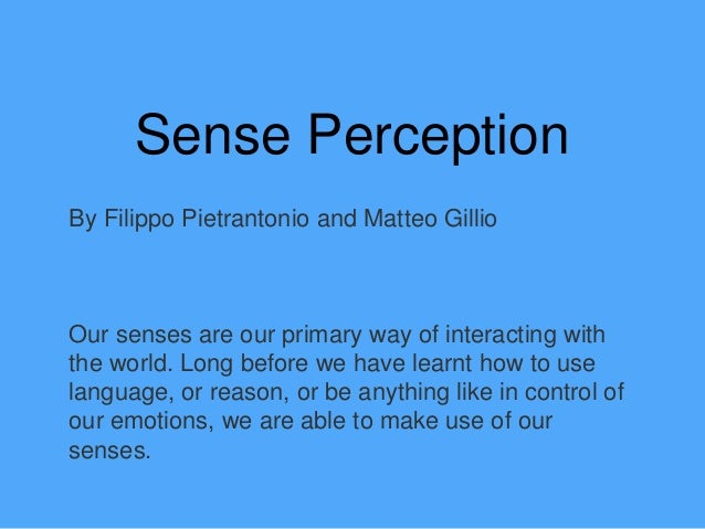 how all five senses impact perception powerpoint
