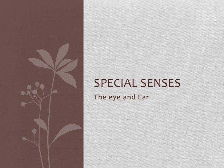 SPECIAL SENSESThe eye and Ear