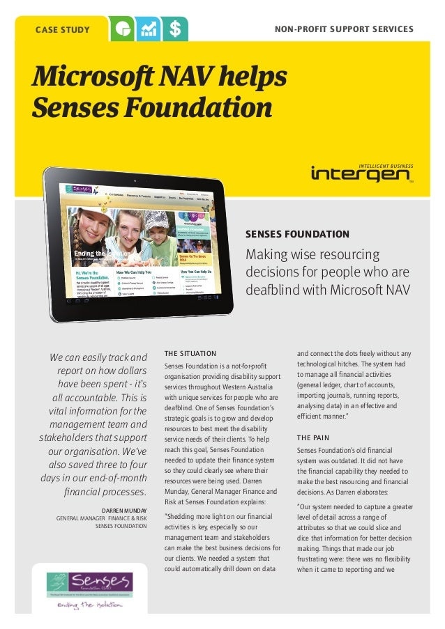 case study                                                                 non-profit support servicesMicrosoft NAV helpsS...