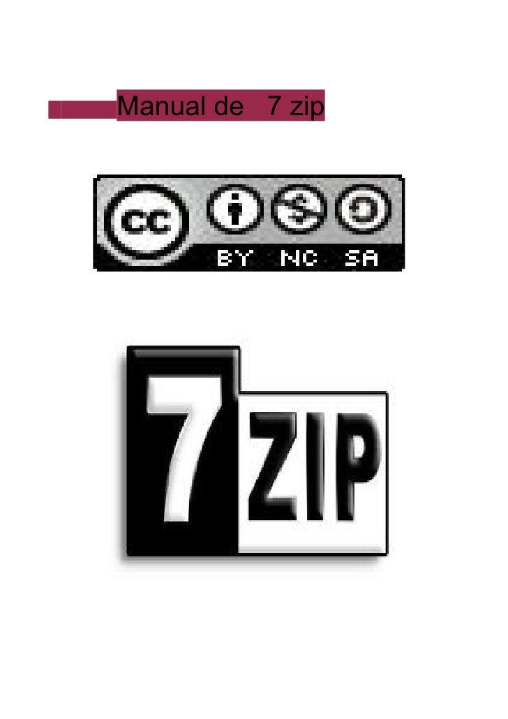 Manual de 7 zip